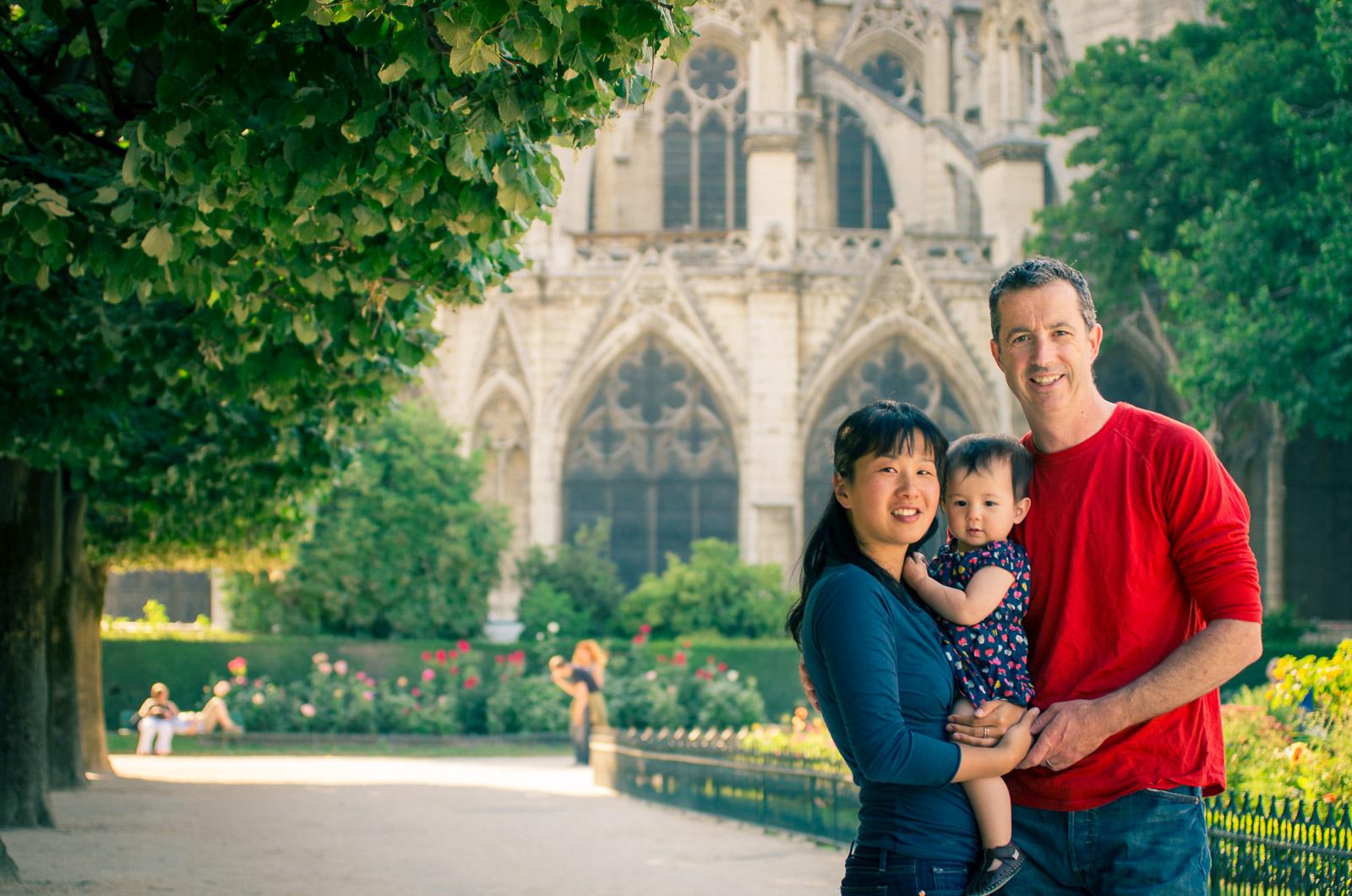 Une promenade à Paris comme photographe de famille