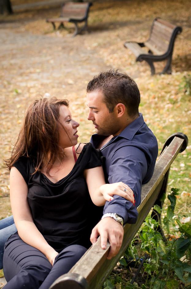 Séance d'engagement de Delphine et Thibault