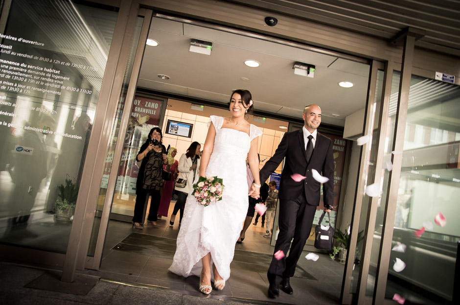Sortie de la mairie - Mariage oriental