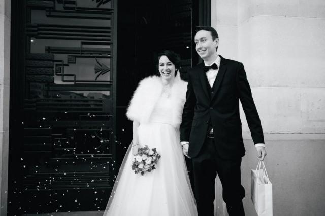 Photo de mariage à la mairie de Puteaux